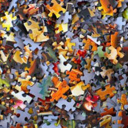 A jumble of puzzle pieces